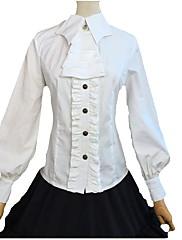 ブラウス/シャツ 甘ロリータ ロリータ コスプレ ロリータドレス ブラック ホワイト ゼブラプリント 長袖 ロリータ ドレス のために FRP