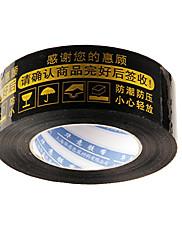 テープを警告、黒の背景ゴールドの言葉