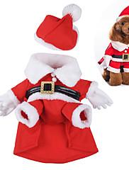 Perros Disfraces Rojo Ropa para Perro Invierno / Primavera/Otoño Caricaturas Adorable / Cosplay / Navidad