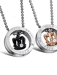 Ogrlice Ogrlice s privjeskom Jewelry Dnevno Others Ljubav Tikovina Žene Muškarci Par 1pc Poklon Zlatna Crna
