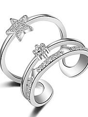 指輪 マルチの方法が着用します セクシー クロスオーバー ファッション 調整可能 愛らしいです 結婚式 パーティー 日常 カジュアル ジュエリー 純銀製 女性 関節リング バンドリング ナックリリング 1個,ワンサイズ ゴールデン シルバー
