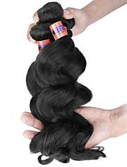 人間の髪編む インディアンヘア ルーズウェーブ 3個 ヘア織り