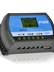 y-solarni 40a lcd PWM solar regulator punjenja regulator akumulatora 12 / 24V dual USB RTD-40A