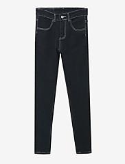 Damer Enkel Mikroelastisk Tynd Jeans Bukser,Alm. taljede Ensfarvet