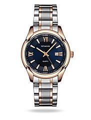 Homens Relógio Elegante Relógio de Moda Quartzo Calendário Impermeável Noctilucente Lega Banda Prata Dourada