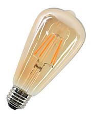 4W LED-glødetrådspærer ST64 4 COB 360 lm Varm hvid Dekorativ Vekselstrøm 220-240 V 1 stk. E27