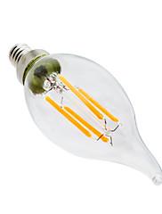 4W LED-stearinlyspærer CA35 4 COB 300-400 lm Varm hvid Dekorativ Dæmpbar Vekselstrøm 110-130 V 1 stk.