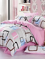 Karirano / kockasto 4 komada 1pc duvet Cover 2kom Shams 1pc Stan list