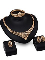 Dámské Náhrdelníky s přívěšky imitace drahokamu Módní Přizpůsobeno Štras Pozlacené Slitina Geometric Shape Šperky Pro Párty Zásnuby
