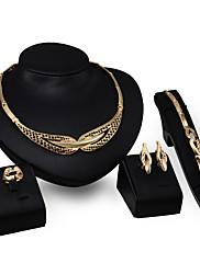 Dame Halskædevedhæng Rhinsten Mode Personaliseret Rhinsten Guldbelagt Legering Geometrisk form Smykker TilForlovelse Aftenselskab