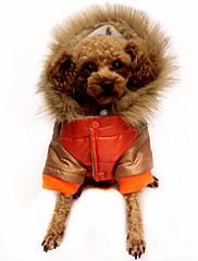 Pes Kabáty Oblečení pro psy Běžné/Denní Barevné bloky Oranžová Kávová Červená