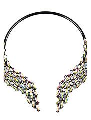 Mulheres Colares Declaração Imitação de Diamante LigaGeométrico Bijuterias Destaque Elegant Bling Bling Metálico Moda Estilo Boêmio