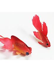 Aquário Decoração Peixe Artificial Luminoso Borracha