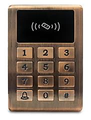 Metal vandtæt id adgangskontrol adgangskontrol kortlæser kreditkort adgangskontrol controller baggrundslys knap 125khz