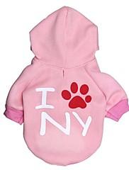 犬 パーカー 犬用ウェア カジュアル/普段着 文字&番号 ピンク