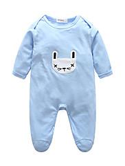 赤ちゃん 純色 ストライプ コットン ワンピース 春/秋 長袖