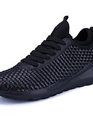 Masculino sapatos Courino Primavera Outono Conforto Tênis Cadarço Para Atlético Branco Preto