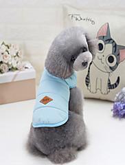 Hund Frakker Hundetøj Afslappet/Hverdag Solid Gul Rød Blå