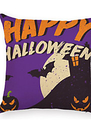 Stk. Bomuld Nyskabende Puder,Trykt mønster Mønster Simpel Moderne / Nutidig Halloween