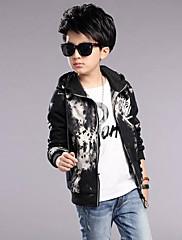Chlapecké Polyester Tisk Podzim Zima Bundičky a kabáty