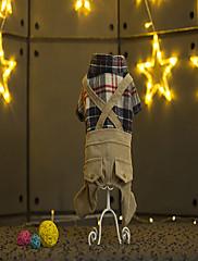 Hund Jumpsuits Hundetøj Afslappet/Hverdag Plæd / Tern Brun