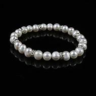 perla eleganti signore degli braccialetto filo in lega di argento