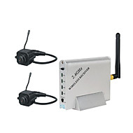 2,4 GHz fyra kanaler trådlös mottagare med 2x pinhole trådlös kamera