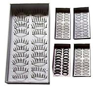 Mode Wimpern - 100 Paar falsche Wimpern gemischten Stil
