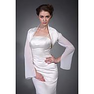 Wedding  Wraps Coats/Jackets Chiffon / Satin Ivory Wedding / Party/Evening High Neck Hanging Sleeves Open Front