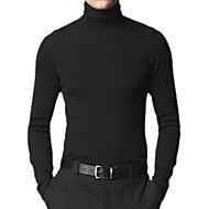 estilo dos homens ajuste de manga comprida camisola de caxemira de gola alta