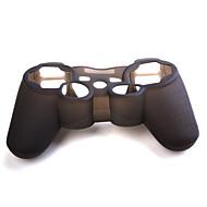 Carcasa de Protección de Silicona Negra para el Control del PS3