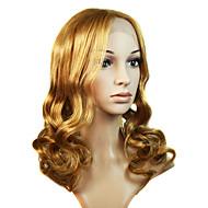 полный шнурок длинный 100% человеческих волос блондинки фигурных парик волос (0988-ns036)