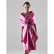 Sheath/Column Plus Sizes Mother of the Bride Dress - Fuchsia Knee-length Sleeveless Satin