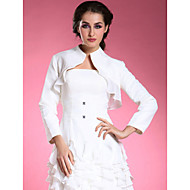 Wedding  Wraps Coats/Jackets Long Sleeve Chiffon / Satin White Wedding High Neck T-shirt Open Front