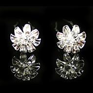 모조 다이아몬드 웨딩 신부 핀 / 꽃, 2 개