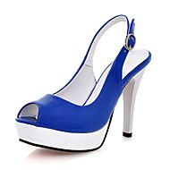 Leatherette Upper Stiletto Heel Platform With Buckle Party/ Evening Shoes.More Colors Available
