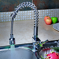 A 3 fori Single Handle un foro with Cromo Rubinetto da cucina