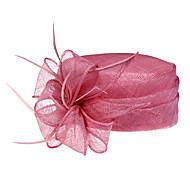 linho lindo com pena de casamento / festa / chapéu de-mel (1192-005)