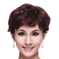 capless curta 100% cabelo humano choclate marrom peruca de cabelo crespo