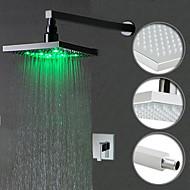 Farbwechsel LED Dusche Wasserhahn mit 8-Zoll-Duschkopf