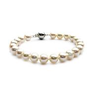 utsökta damer pärla sträng armband i silver-legering