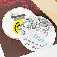 personalizzati apribottiglie / frigorifero magnete - fiore verde (set di 12)