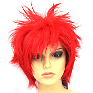 Capless Short Hign-temperature Resistance Red Costume Party Wig