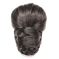 Black Synthetic Braided Bun Hairpiece