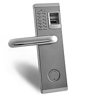 プレミアムバイオメトリック指紋とパスワードドアロック、デッドボルト付き、左右のドア用