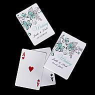 gepersonaliseerde speelkaarten - groene bloemen
