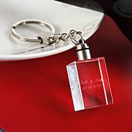 anpassa rektangel kristall nyckelring