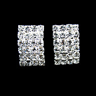 Shining Rhinestones With Silver/Alloy Plating Bridal Earrings