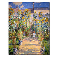 Hand-painted Oil Painting by Claude Monet with Stretched Frame