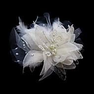 satijn/Tule Vrouwen Helm Bruiloft/Speciale gelegenheden Bloemen/Fascinators Bruiloft/Speciale gelegenheden